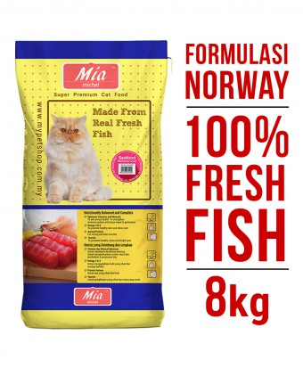Mia Michel Super Premium Dry Cat Food Seafood 8KG